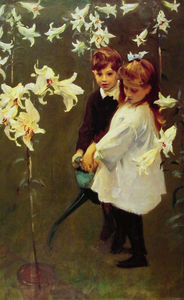 John Singer Sargent - Garden. Study of the Vickers Children