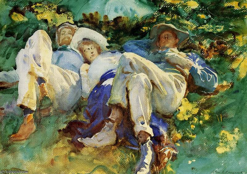 siesta by John Singer Sargent (1856-1925, Italy)