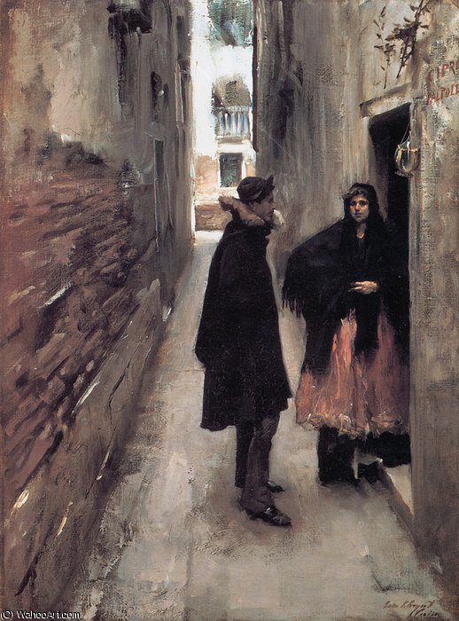 Street in Venice by John Singer Sargent (1856-1925, Italy)