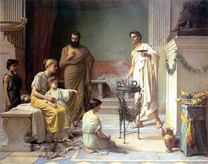 John William Waterhouse - A Sick Child BroughtInto the Temple Of Aesculapius