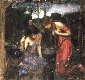 John William Waterhouse - Nymphs finding the head of orpheus study