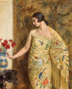 Jorge Apperley (George Owen Wynne Apperley) - Lady in oriental dress