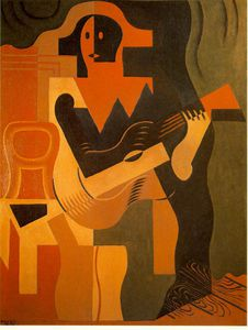 Juan Gris - Harlequin with guitar - -