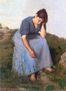 Jules Adolphe Aimé Louis Breton - Young Woman in a Field