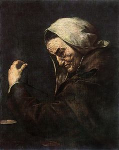 Jusepe De Ribera (Lo Spagnoletto) - an old money lender