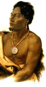 Karl Bodmer - Chief of the Puncas