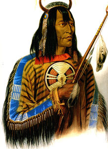 Karl Bodmer - noapeh assiniboin chief