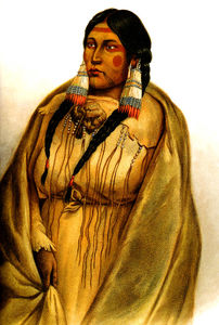 Karl Bodmer - Woman of The Cree-Tribe