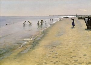 Peder Severin Kroyer - Summer Day at the South Beach of Skagen