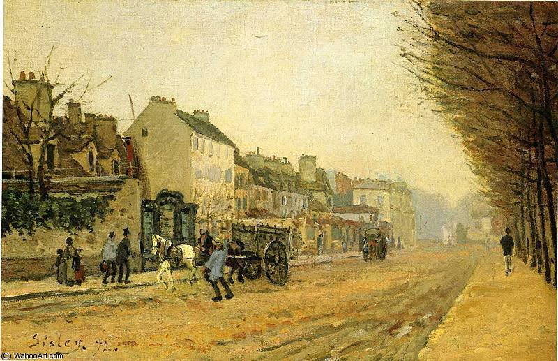 untitled (4272) by Alfred Sisley (1839-1899, France)