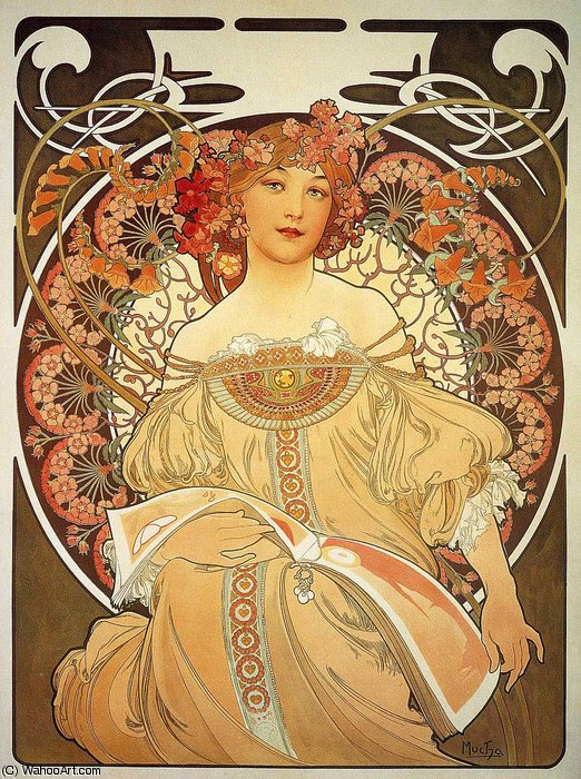untitled (8523) by Alfons Maria Mucha (1860-1939, Czech Republic) | Famous Paintings Reproductions | WahooArt.com