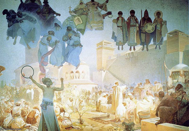 untitled (4935) by Alfons Maria Mucha (1860-1939, Czech Republic) | Famous Paintings Reproductions | WahooArt.com