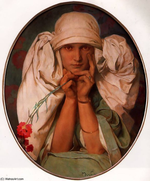 untitled (4408) by Alfons Maria Mucha (1860-1939, Czech Republic) | Oil Painting | WahooArt.com