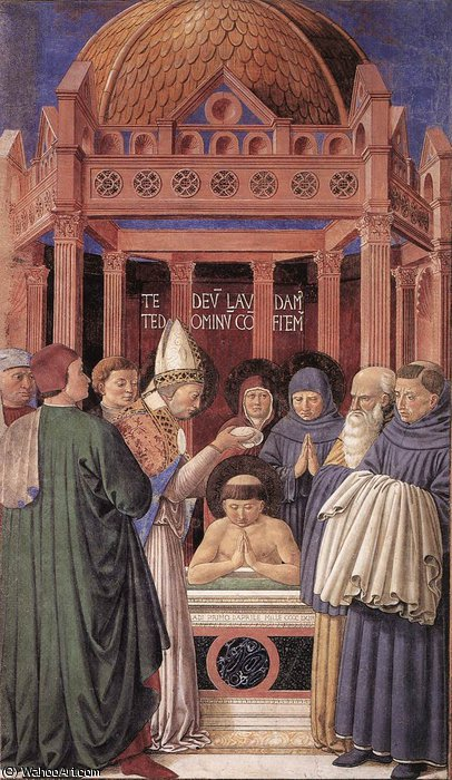 untitled (1197) by Benozzo Gozzoli (1420-1497, Italy) | Famous Paintings Reproductions | WahooArt.com