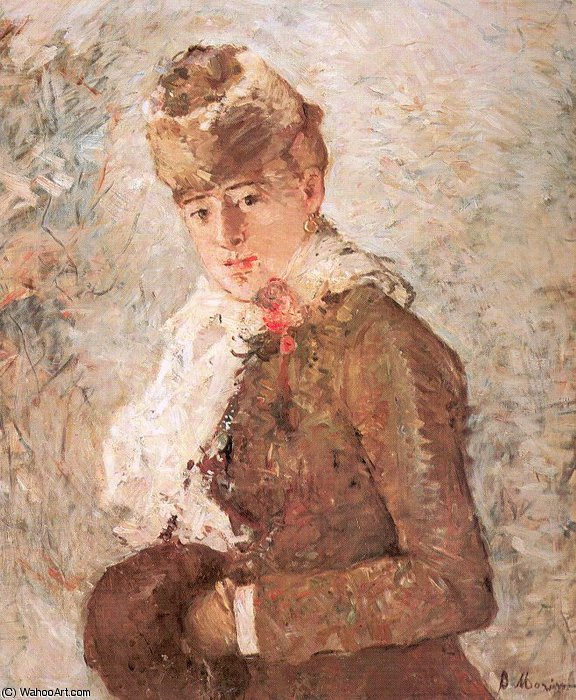 untitled (3648) by Berthe Morisot (1841-1895, France) | Oil Painting | WahooArt.com