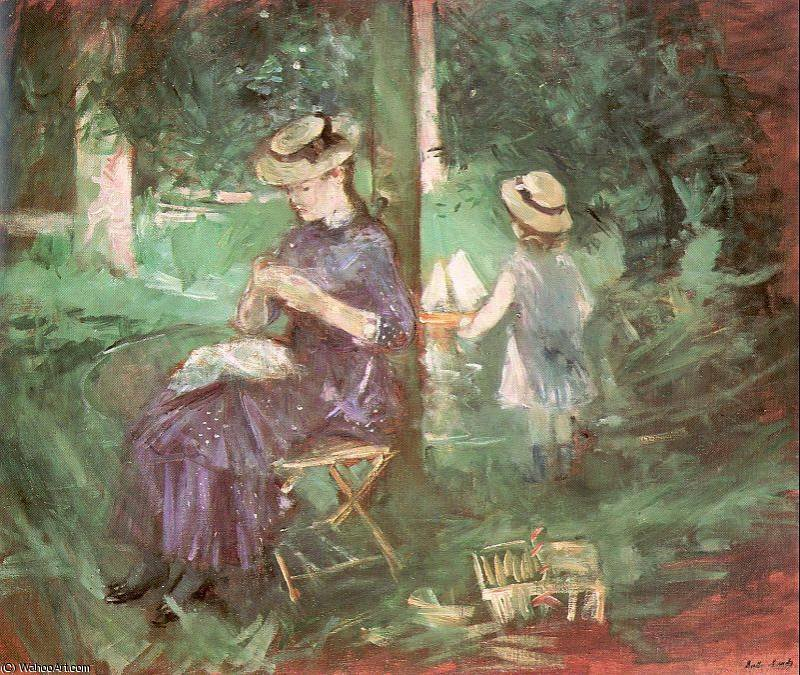 untitled (2945) by Berthe Morisot (1841-1895, France) | Famous Paintings Reproductions | WahooArt.com