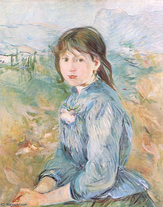 untitled (9406) by Berthe Morisot (1841-1895, France) | Painting Copy | WahooArt.com