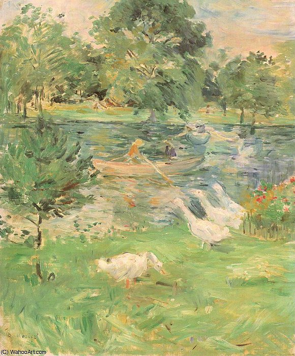 untitled (2469) by Berthe Morisot (1841-1895, France) | Oil Painting | WahooArt.com