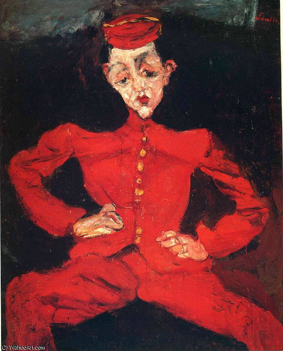 untitled (6510) by Chaim Soutine (1894-1943, Russia) | Oil Painting | WahooArt.com