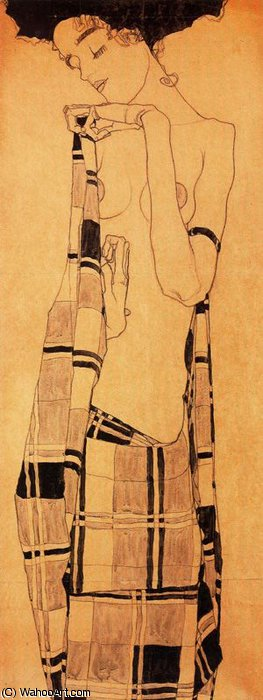 untitled (3050) by Egon Schiele (1890-1918, Croatia) | WahooArt.com