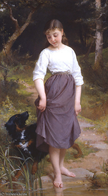 untitled (2379) by Emile Munier (1840-1895, France) | Famous Paintings Reproductions | WahooArt.com