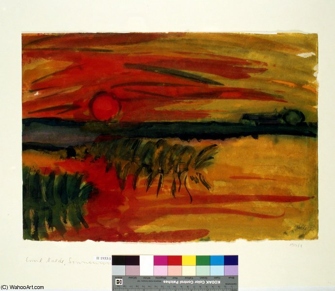 untitled (6007) by Emile Nolde (1867-1956, Germany) |  | WahooArt.com