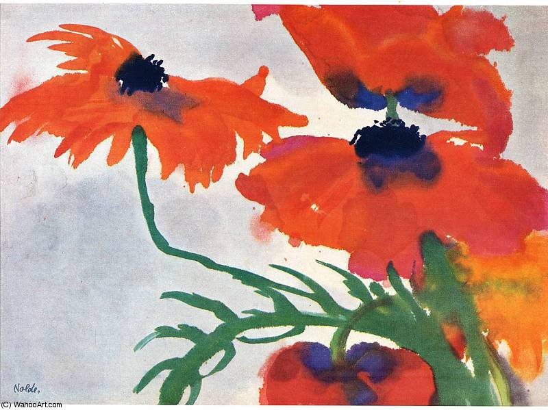 untitled (4312) by Emile Nolde (1867-1956, Germany) |  | WahooArt.com