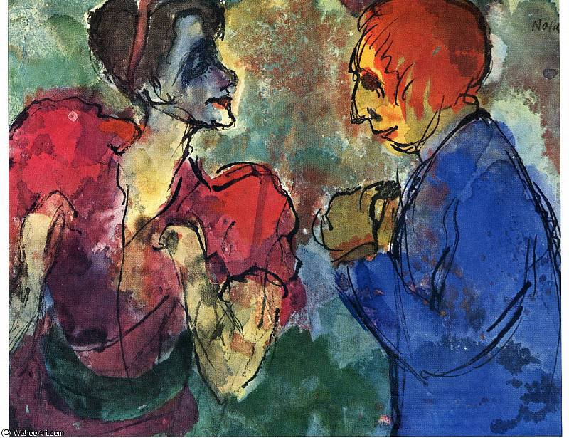 untitled (6882) by Emile Nolde (1867-1956, Germany) |  | WahooArt.com