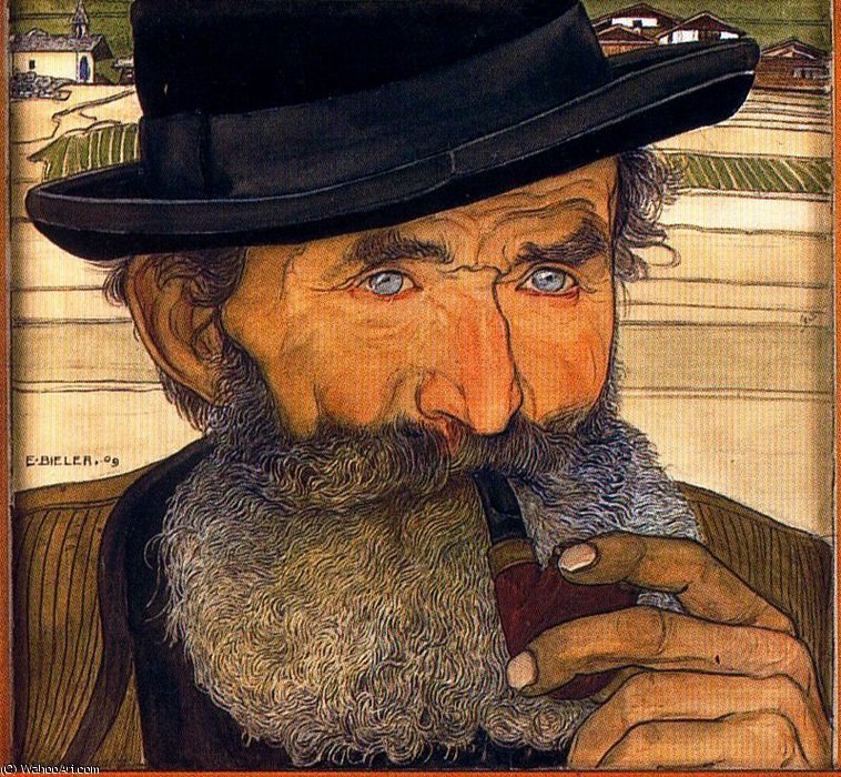 untitled (7470) by Ernest Bieler (1863-1948, Switzerland) | Paintings Reproductions Ernest Bieler | WahooArt.com