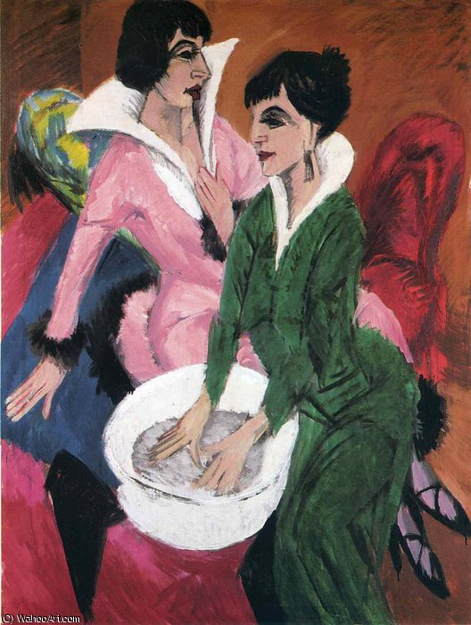 Order Famous Paintings Reproductions : untitled (7464) by Ernst Ludwig Kirchner (1880-1938, Germany) | WahooArt.com