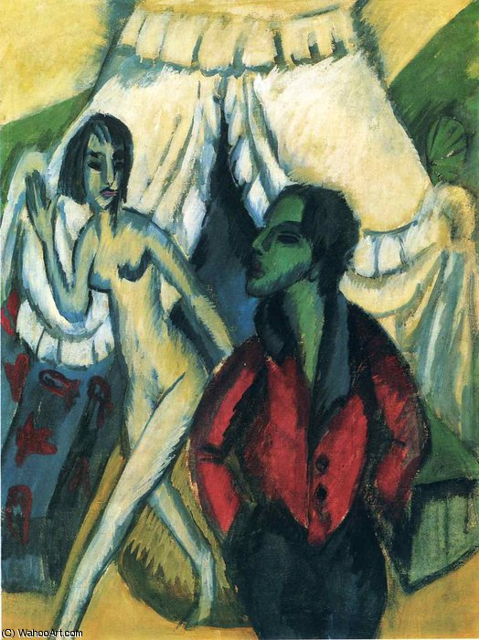 untitled (9768) by Ernst Ludwig Kirchner (1880-1938, Germany) | WahooArt.com