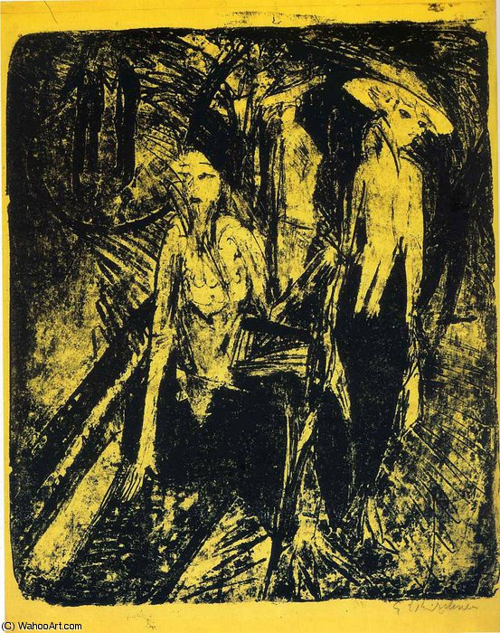 untitled (9614) by Ernst Ludwig Kirchner (1880-1938, Germany) | WahooArt.com
