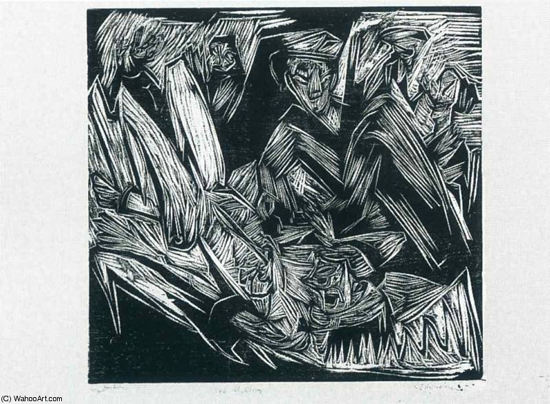 untitled (6556) by Ernst Ludwig Kirchner (1880-1938, Germany) | Art Reproduction | WahooArt.com