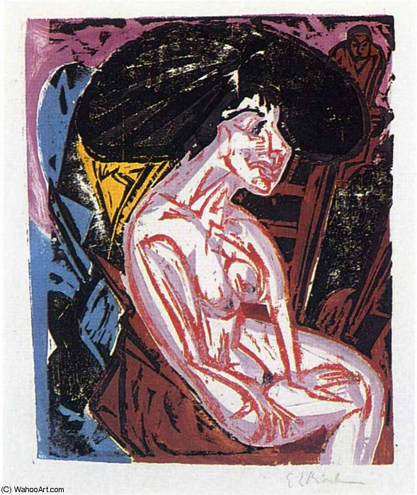 untitled (1868) by Ernst Ludwig Kirchner (1880-1938, Germany)