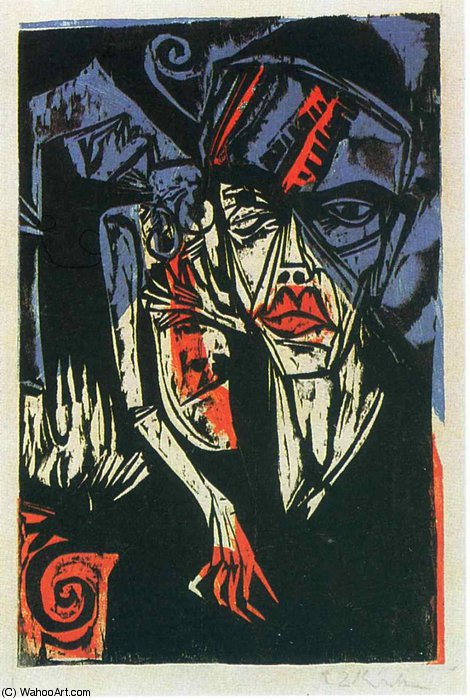 untitled (337) by Ernst Ludwig Kirchner (1880-1938, Germany)
