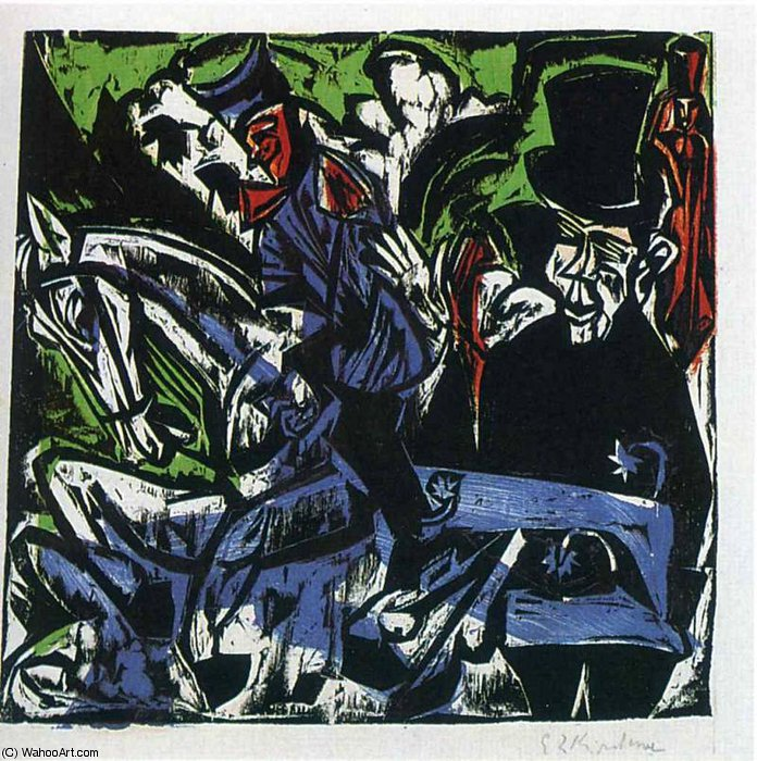 untitled (8159) by Ernst Ludwig Kirchner (1880-1938, Germany) | Famous Paintings Reproductions | WahooArt.com