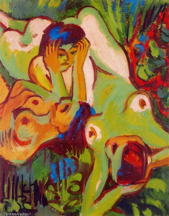 untitled (9055) by Ernst Ludwig Kirchner (1880-1938, Germany)