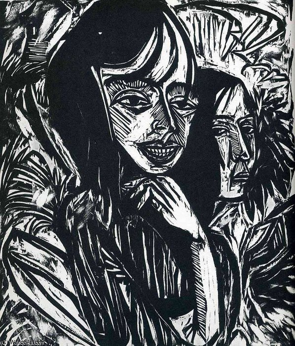 untitled (364) by Ernst Ludwig Kirchner (1880-1938, Germany) | WahooArt.com