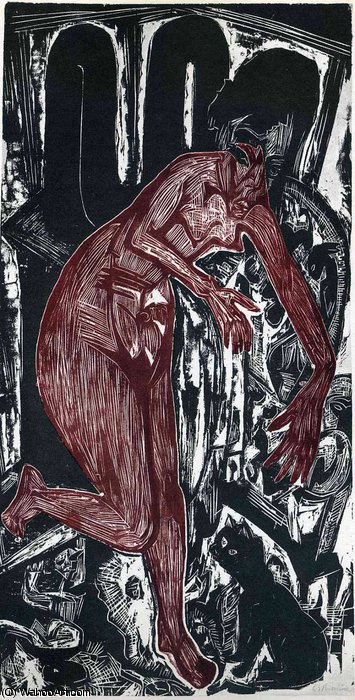 untitled (4253) by Ernst Ludwig Kirchner (1880-1938, Germany) | WahooArt.com