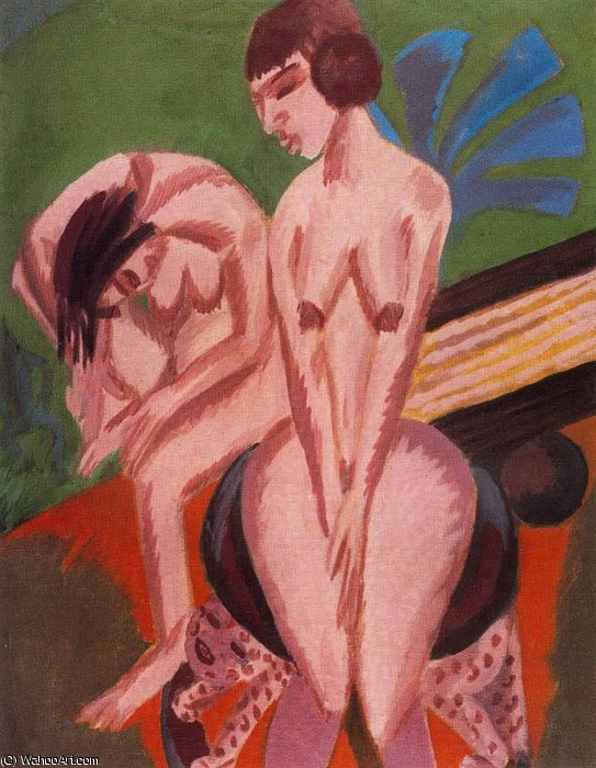 untitled (9521) by Ernst Ludwig Kirchner (1880-1938, Germany) | Museum Quality Reproductions | WahooArt.com