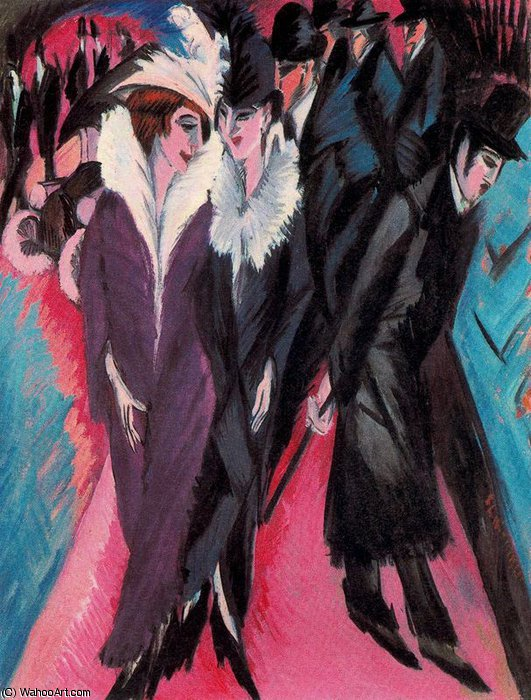 untitled (4373) by Ernst Ludwig Kirchner (1880-1938, Germany) | Famous Paintings Reproductions | WahooArt.com