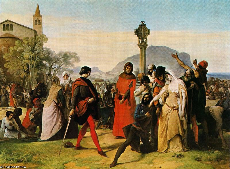untitled (1395) by Francesco Hayez (1791-1882, Italy) | Museum Quality Reproductions | WahooArt.com