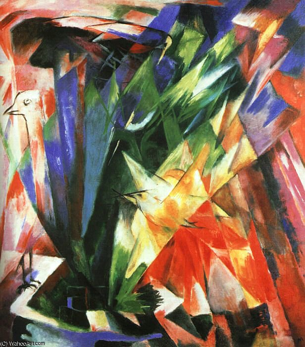 untitled (3212) by Franz Marc (1880-1916, Germany)