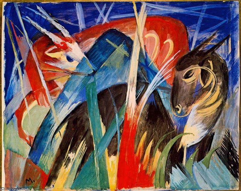 untitled (8076) by Franz Marc (1880-1916, Germany)