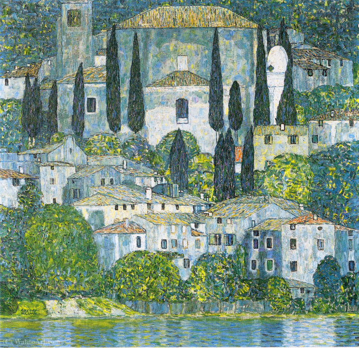 Kirche in Cassone, Painting, Canvas, Oil, Oil On Canvas by Gustav Klimt (1862-1918, Austria)