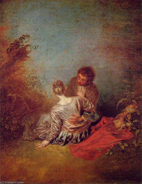 untitled (3806) by Jean Antoine Watteau (1684-1721, France)