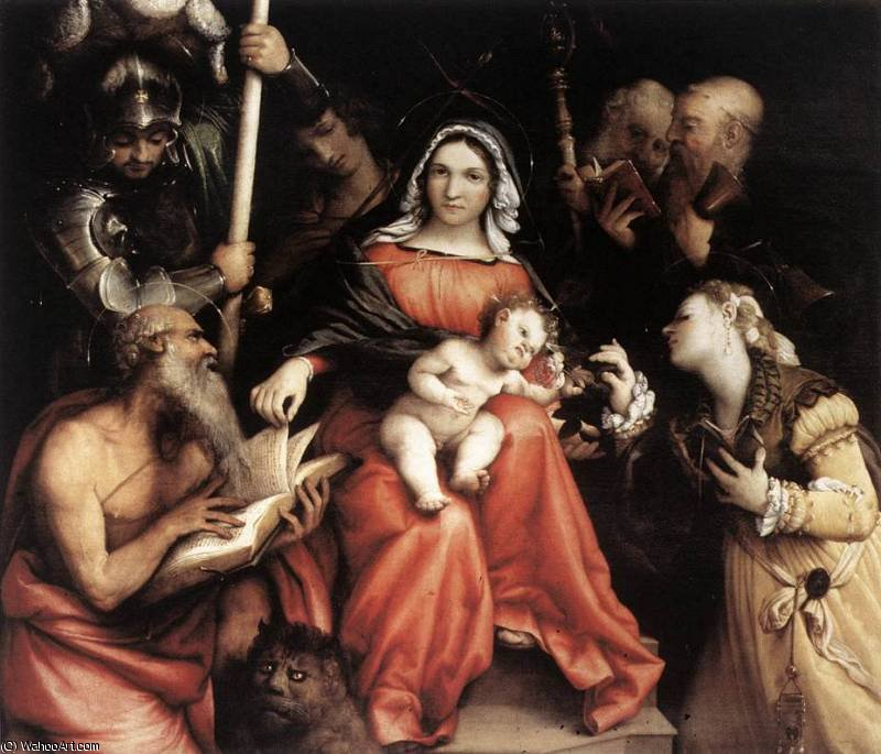 untitled (4266) by Lorenzo Lotto (1480-1556, Italy) | Museum Quality Copies Lorenzo Lotto | WahooArt.com