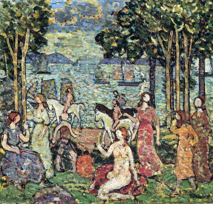 untitled (7152) by Maurice Brazil Prendergast (1858-1924, Canada) | Art Reproduction | WahooArt.com