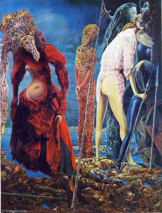 untitled (1997) by Max Ernst (1891-1976, Germany)
