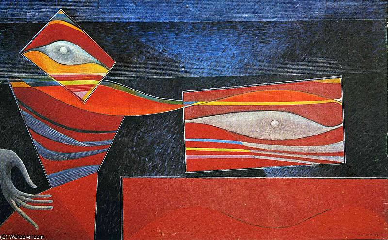 untitled (4465) by Max Ernst (1891-1976, Germany)